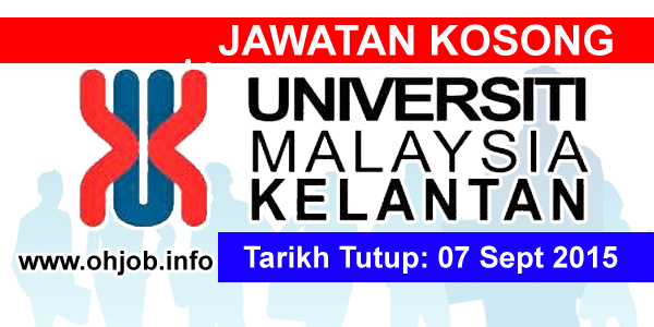 Jawatan Kerja Kosong Universiti Malaysia Kelantan (UMK) logo www.ohjob.info september 2015