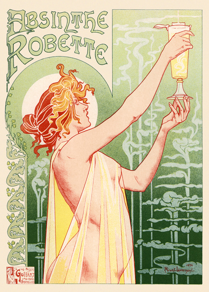 advertising, classic posters, food, free download, free printable, french poster, graphic design, printables, retro prints, vintage, vintage posters, vintage printables, Absinthe Robette - Vintage