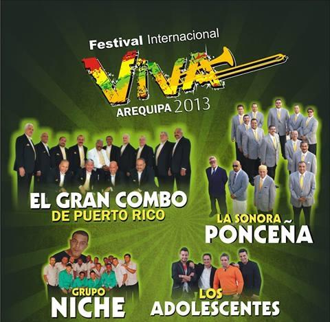 Salsa de Oro en VIVA AREQUIPA 2013 - Precio de entradas (21 junio)