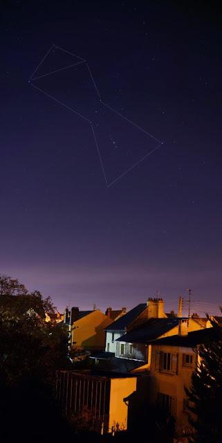 Chòm sao Orion trên bầu trời Normandy, nước Pháp. Tác giả : Mohamed Laaifat.