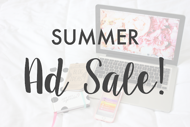 Summer Ad Sale! | A Girl, Obsessed