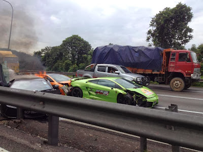 Marchettino The Only Official Website 3 Lambos Crash And Burn Together