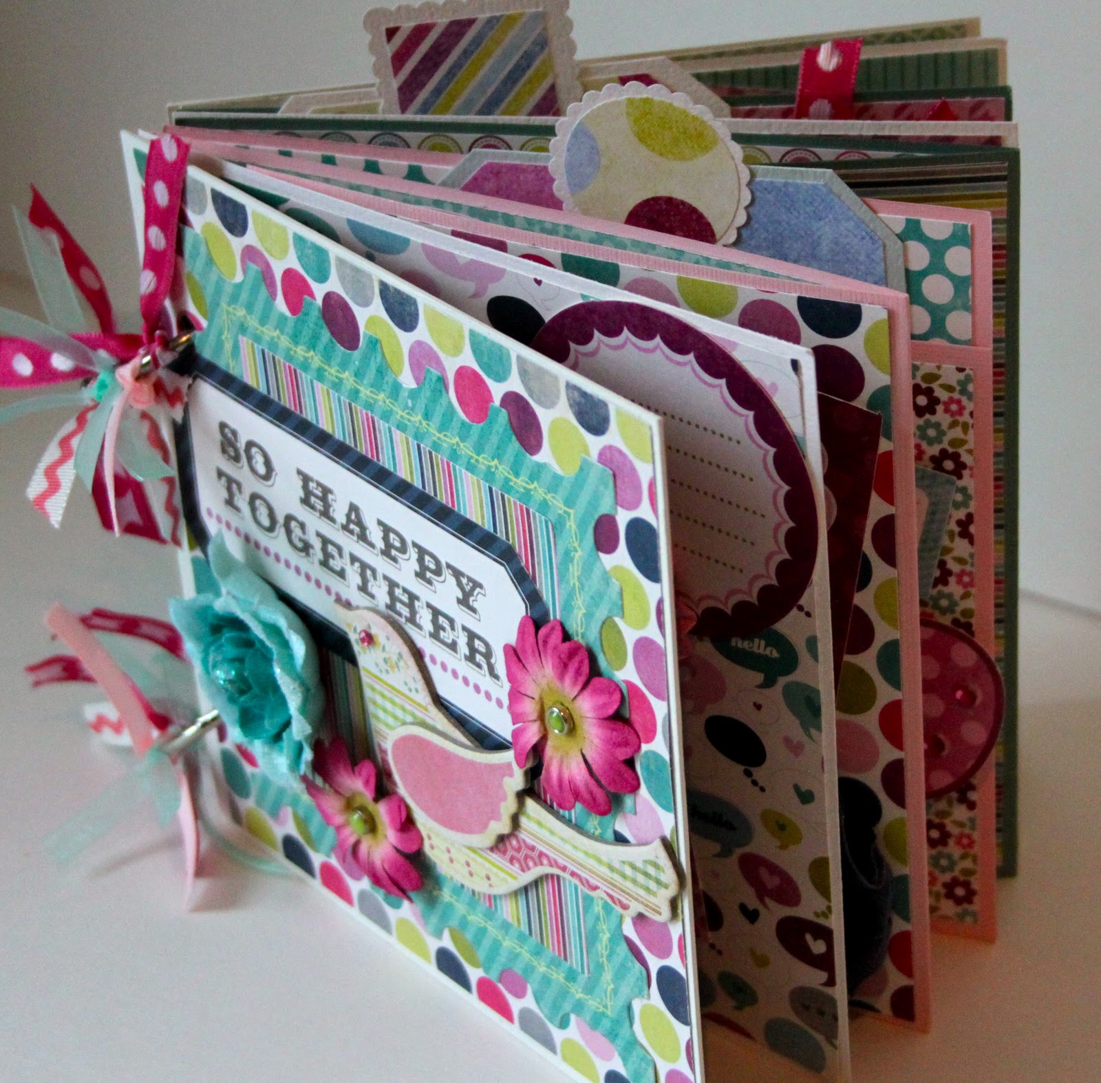 Artsy albums mini album and page layout kits and custom - Album de fotos manualidades ...