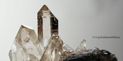 crystal of smoky quartz from Mont-Blanc