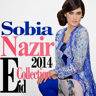Sobia Nazir Eid Collection 2014 | Lawn and Chiffon Dresses for Eid 2014