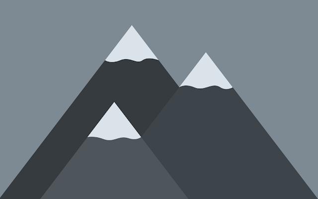 mountains minimalist wallpaper hd