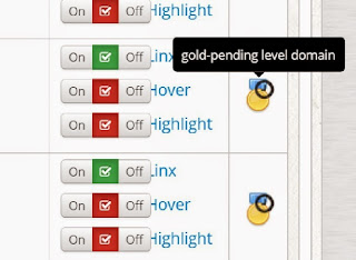 gold-pending level domain