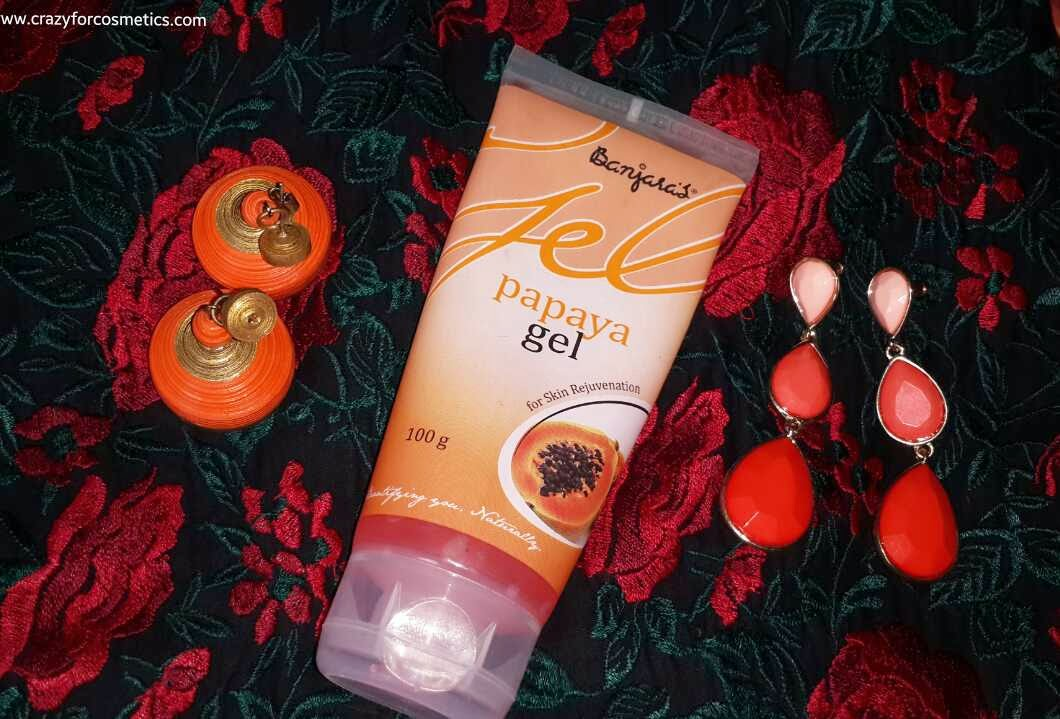 Banjara's Papaya face gel review- Product review- Banjara's Papaya Face gel India- Face Gel Mask India- Face gel products- Herbal face products india- Herbal skincare products india review