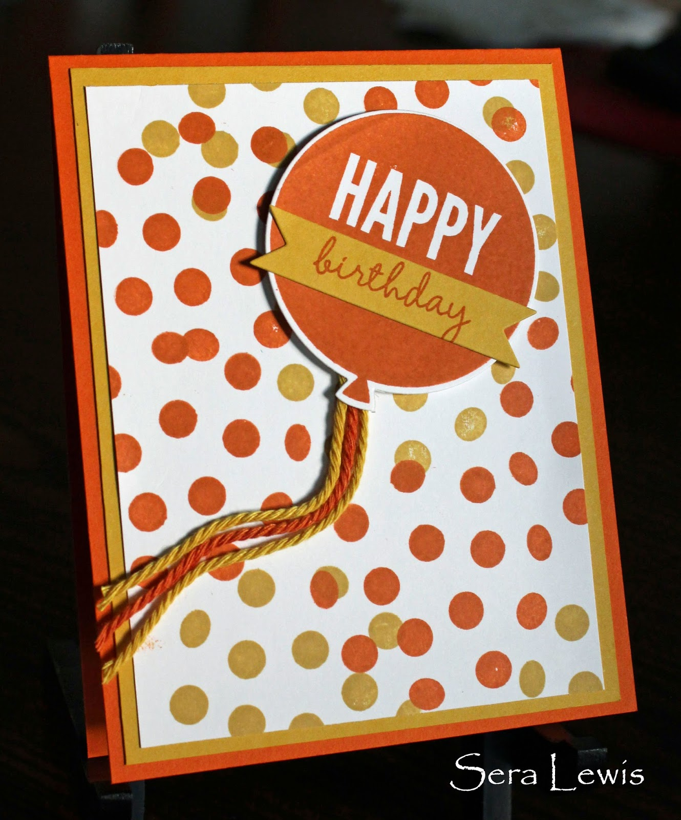 Birthday card that uses Stampin' Up! Celebrate Today