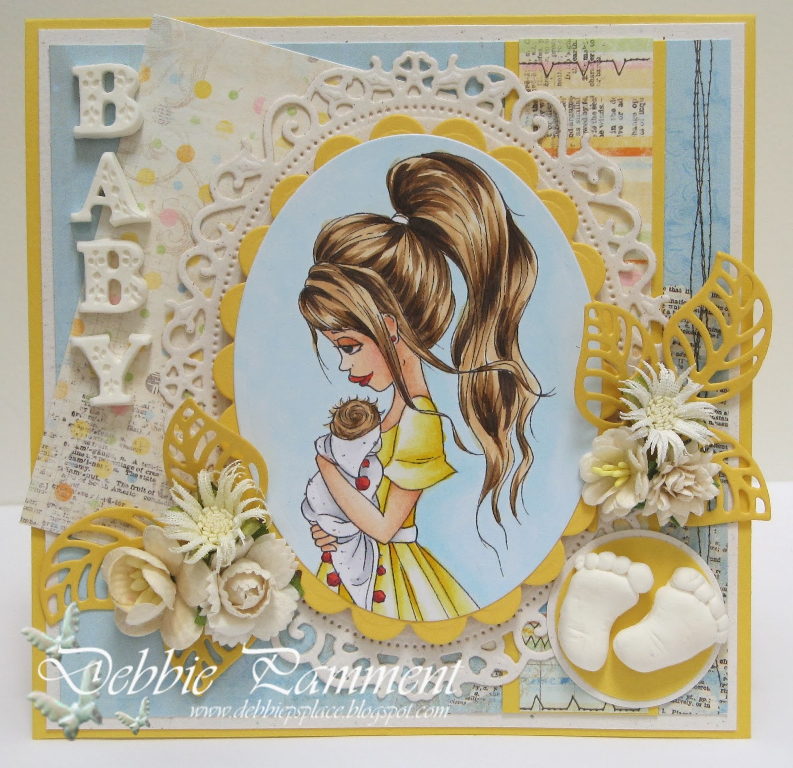 Debbie Ps Place A Saturated Canary Baby Card