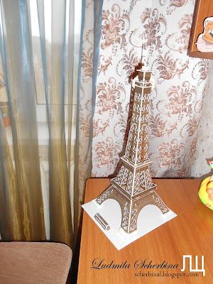 3д пазлы эйфелева башня