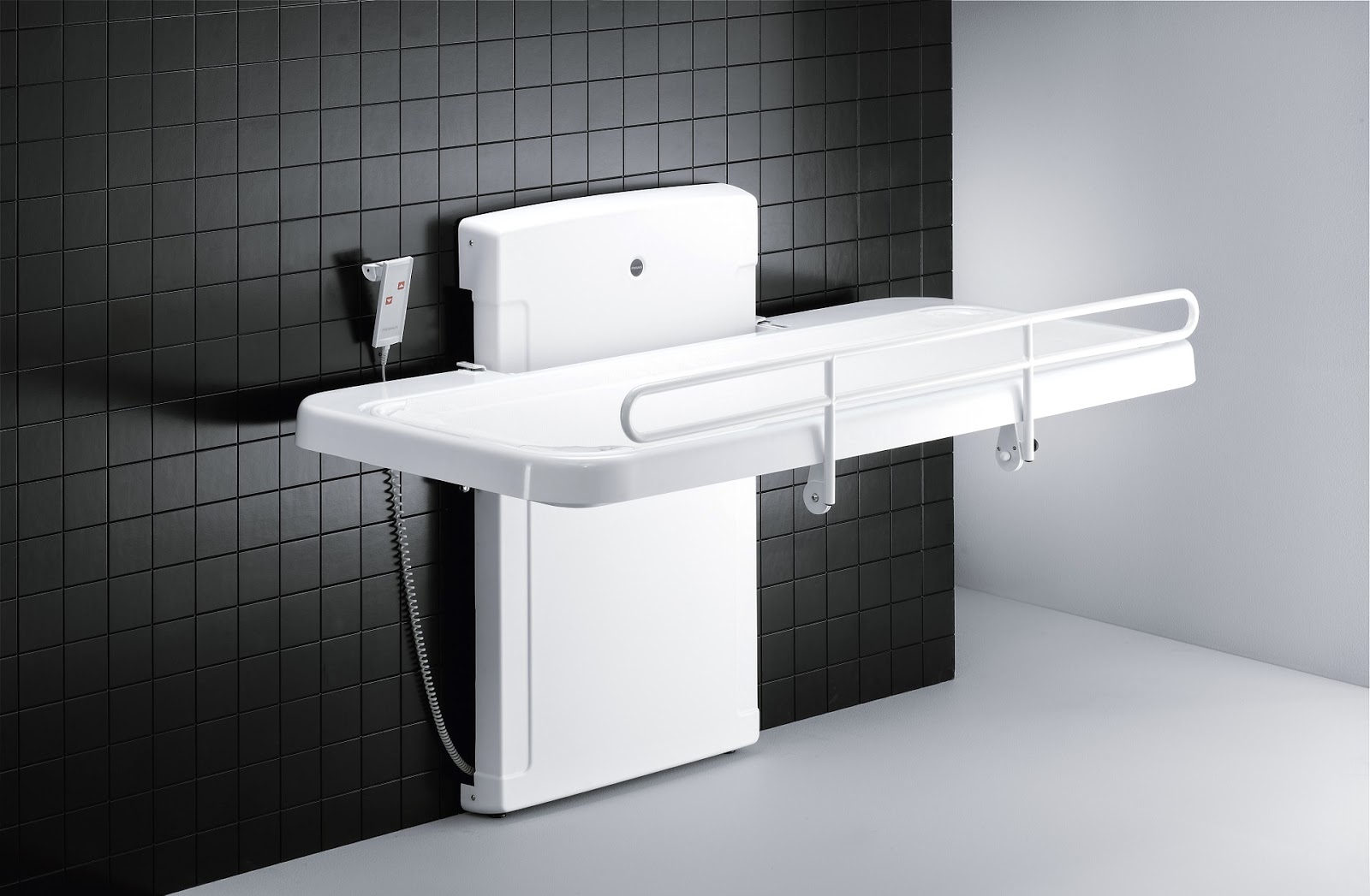 Pressalit R8478000 Powered Nursing Bench with Safety Rail