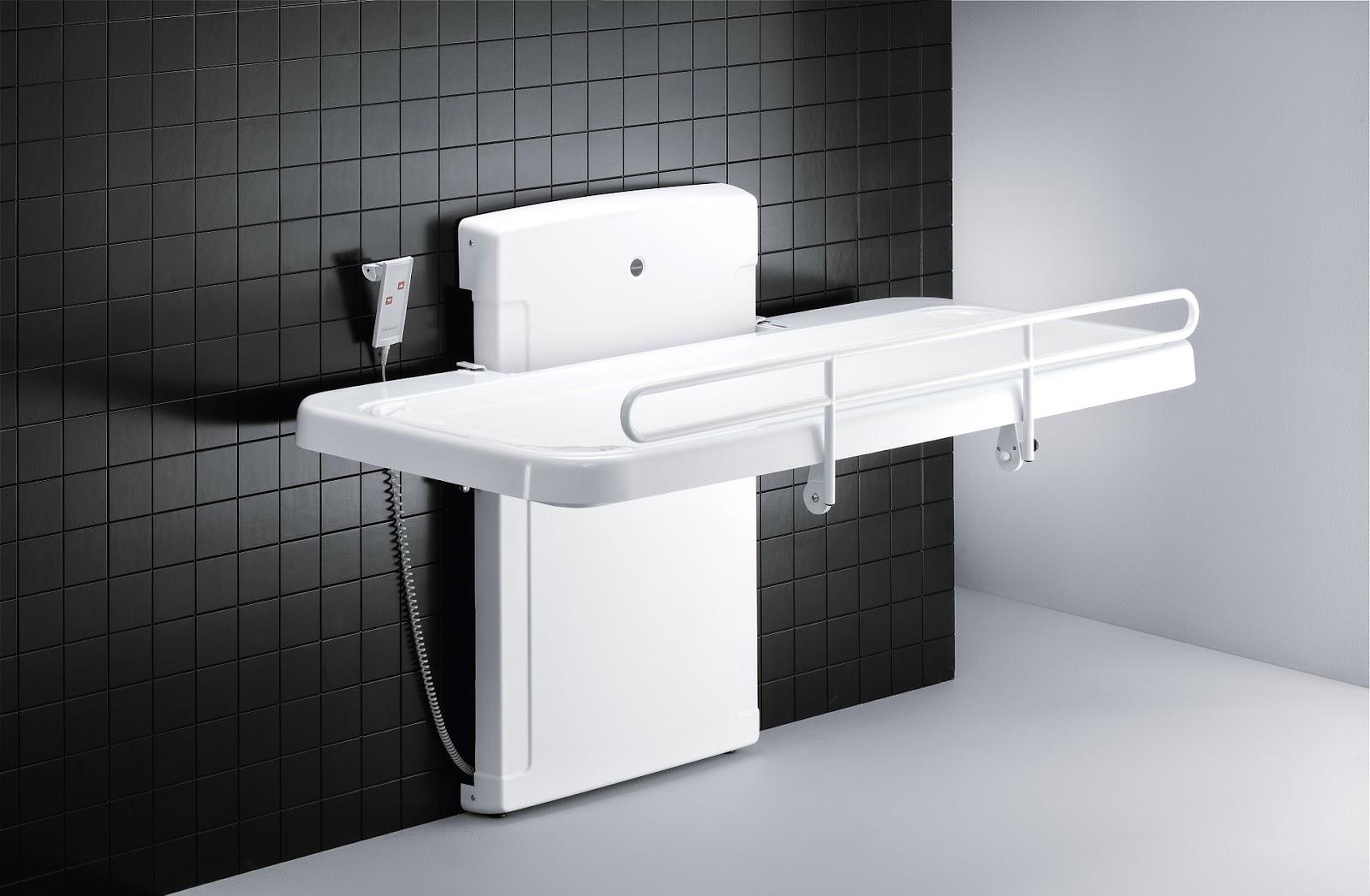 Pressalit R8478000 Powered Nursing Bench with Safety Rail