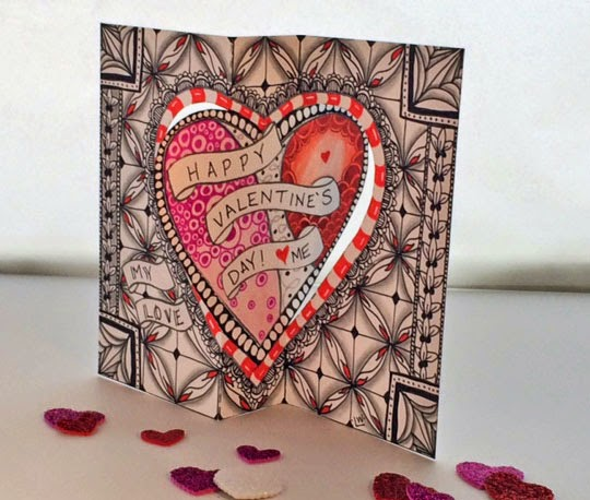 Tangle Your Own - Valentine's Day Card