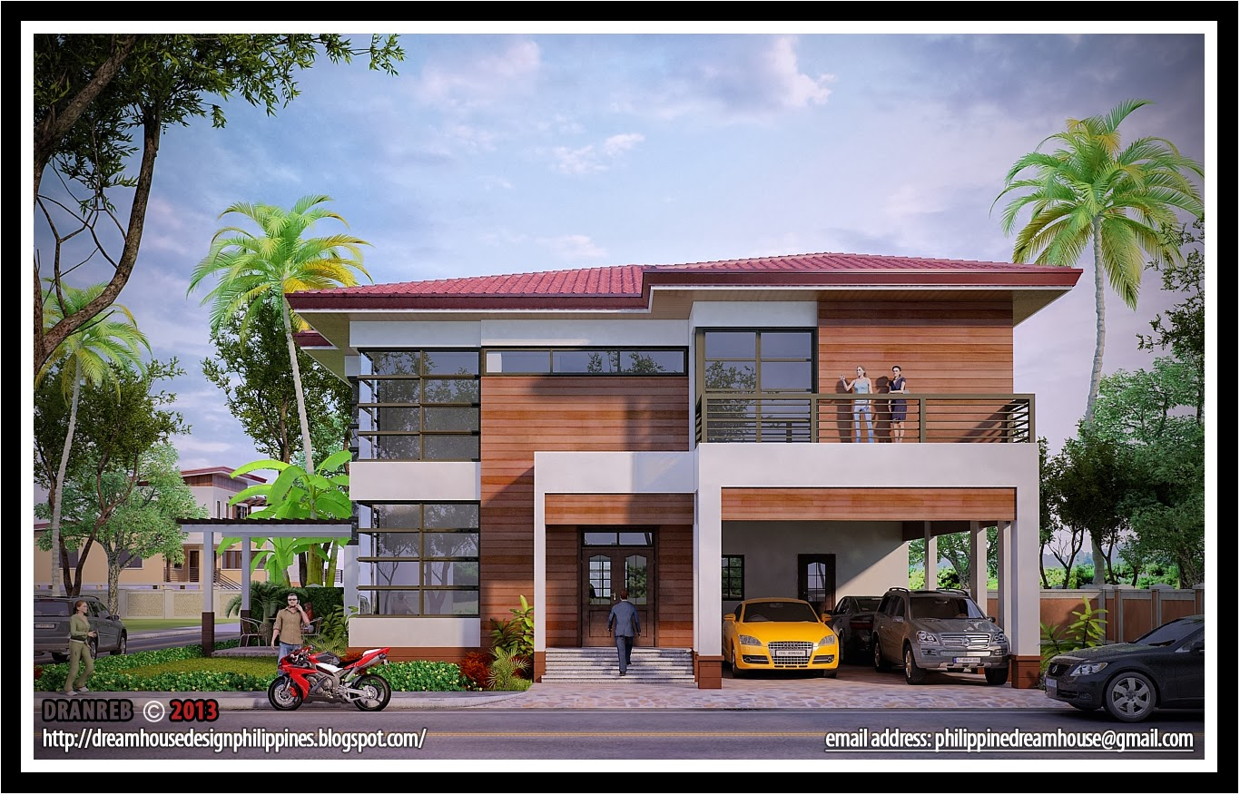 Philippine dream house design five bedrooms two storey house for Two storey house design philippines
