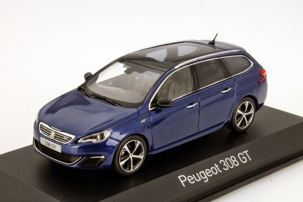 Generation Ab 2019 1//43 Norev Mo Peugeot 2008 GT SUV Blau mit Dach in Schwarz 2