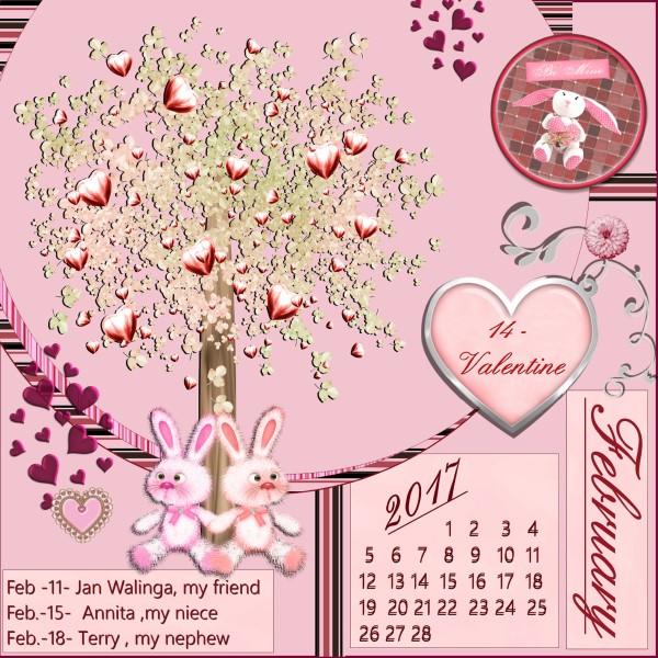 Feb.2017 calendar
