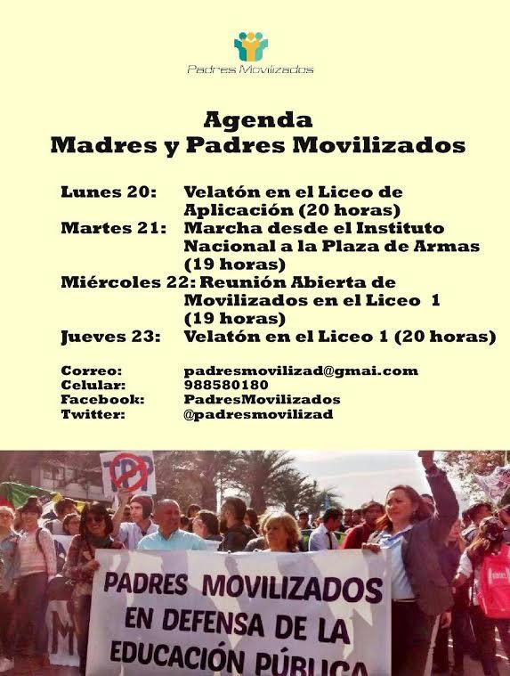 SANTIAGO: AGENDA MADRES Y PADRES MOVILIZADOS