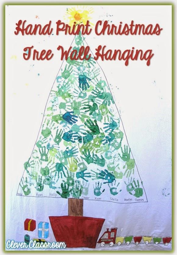 Group Hand Print Christmas Tree