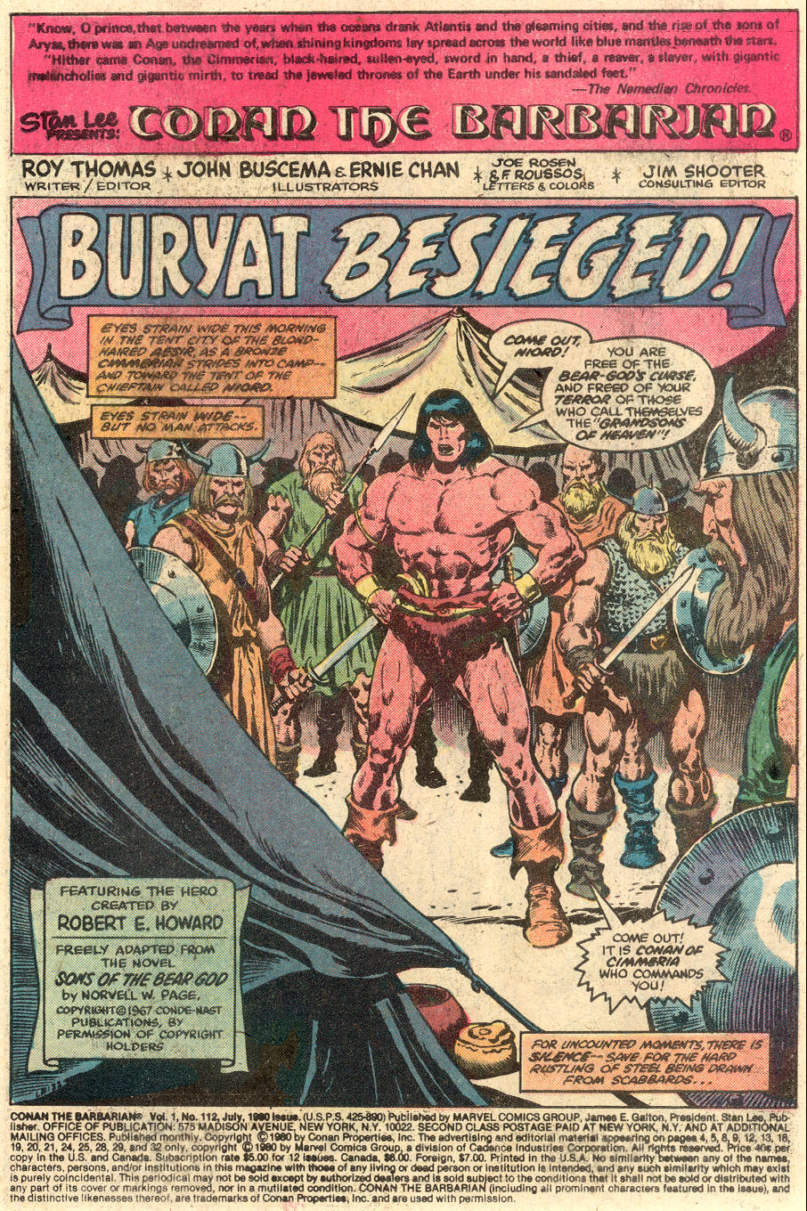 Conan the Barbarian (1970) Issue #112 #124 - English 2