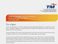 Deepavali Message from Tan Sri Zam Isa 2014
