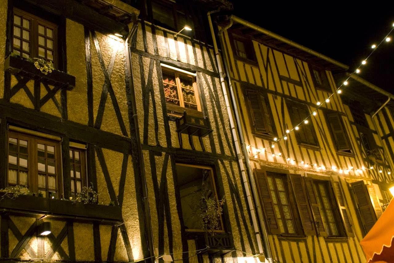 Vakwerkhuisjes in Limoges, Frankrijk