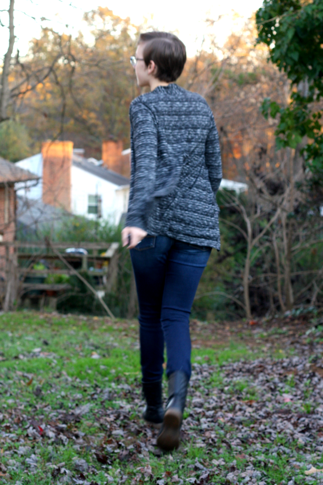 personal style space dyed cardigan