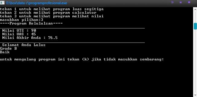 Contoh Program Dalam Bahasa C++