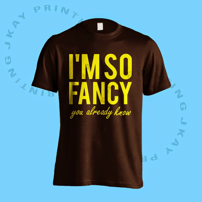 I'm So Fancy (Yellow Text) - Black Tshirt