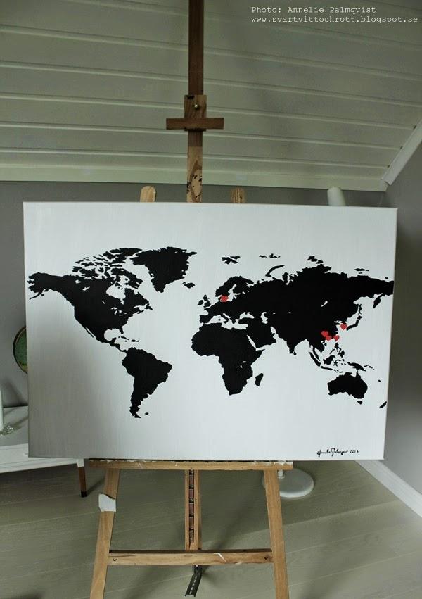 världskarta, adoptionstavla, adoption, minne adoptera, världskartor, svartvitt, svartvita, svart och vitt, svart, svarta, vitt, vita, vit, tavla, tavlor, tavlorna, ateljé, arbetsrum