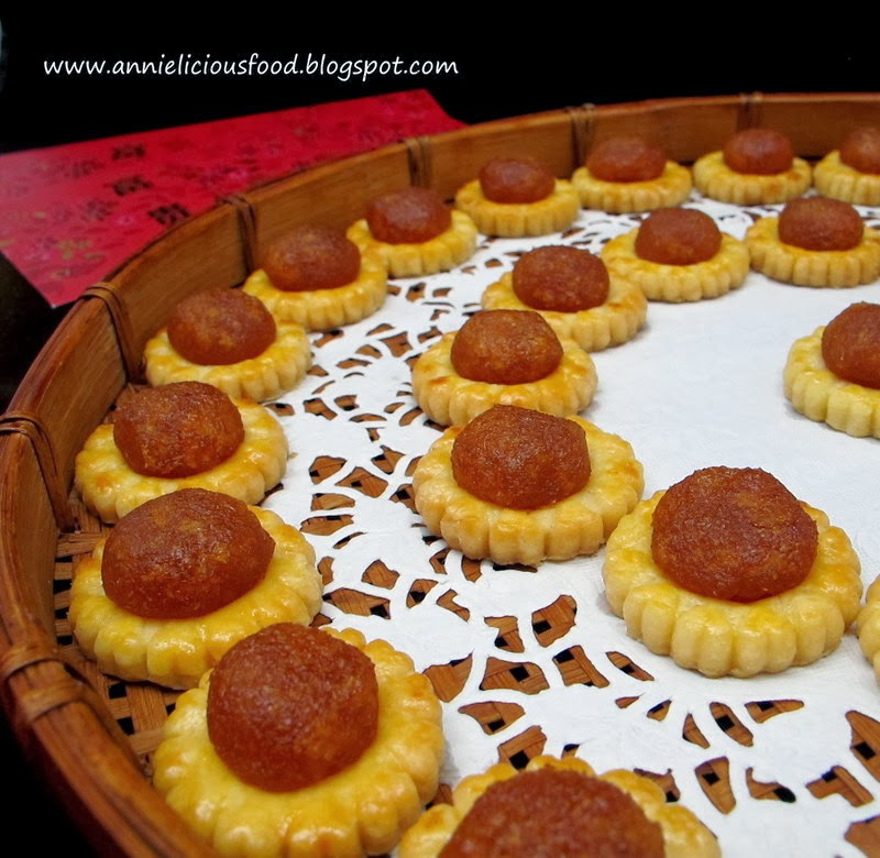 Annielicious Food: Melt-In-Your-Mouth Pineapple Tarts (黄梨酥挞)