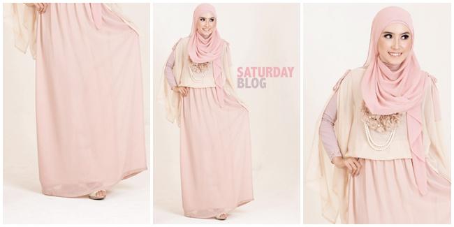 Contoh Baju Muslim dengan Maxi Skirt | Cara Memakai Jilbab