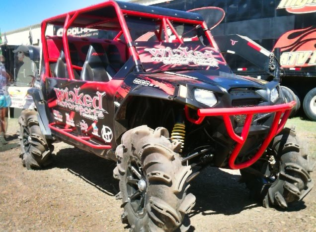 Sweet Polaris RZR 4 getting ready for the Bad 2 the Bone competition