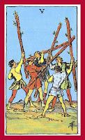 Tarot Deck | 5 of Wands