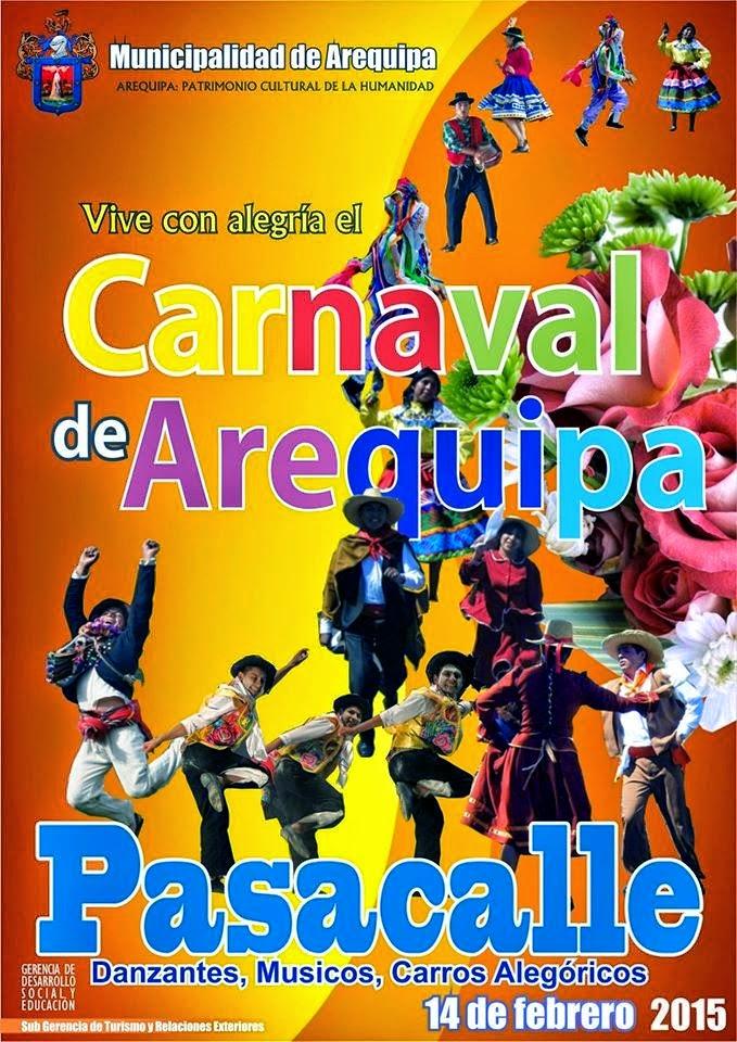 Pasacallle por el Carnaval de Arequipa - 14 de febrero