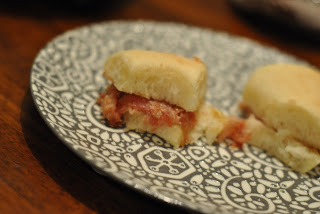 mini country ham biscuits