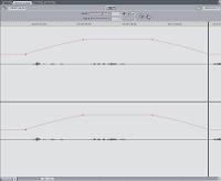 The Audio Editing window in Final Cut Pro.