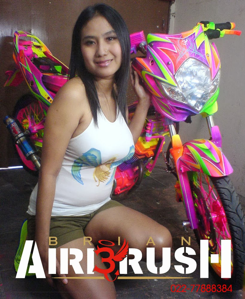 Airbrush Industries: Airbrush Grafis Motor Satria FU