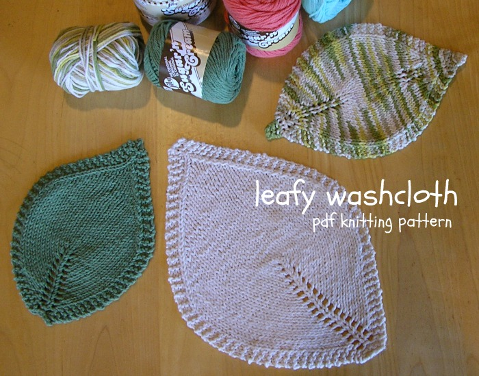 Been There Done That Leafy Washcloth Pdf Pattern