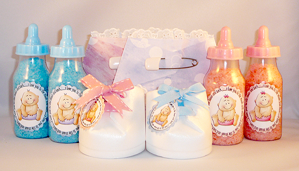 Homemade baby shower party favor ideas