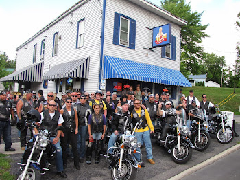 Bikers Stop at Pearl Street Enroute to West Carthage Fundraiser