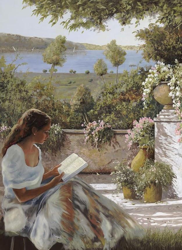Dívka čte...