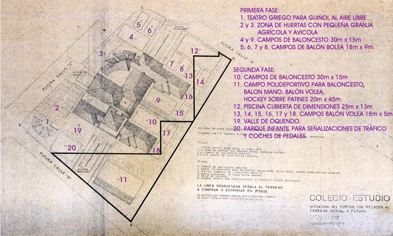 1962 1963 colegio estudio en aravaca fernando higueras - Plano de aravaca ...
