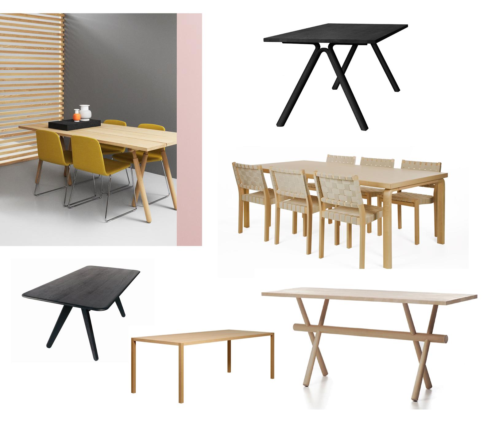 Pakko hankkia uusi ruokapöytä Pieni talo Helsingissä