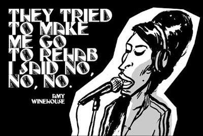 Ilustração, Rock, pequeno livro do Rock, Amy Winehouse