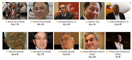 RICH LIST: The 50 richest in the Philippines