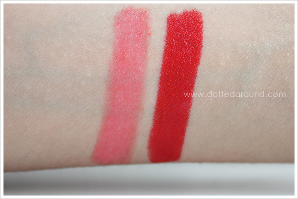 Kiko lipstick gloss duo Blooming Origami swatch