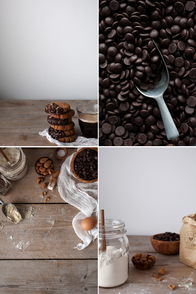 Chocolate-dipped almond butter cookies | recipe by @toetjeaddicted