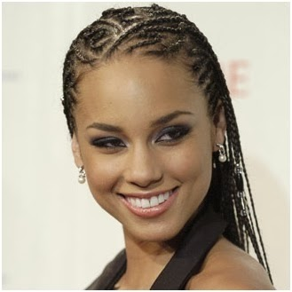 coiffure Alicia Keys, tresses cheveux mode afro américaine 2014