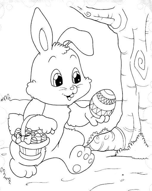 Desenhos para colorir páscoa e imprimir